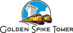 Golden Spike Tower Logo